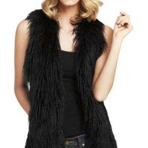 Cabi Faux Fur Vest Black Size M